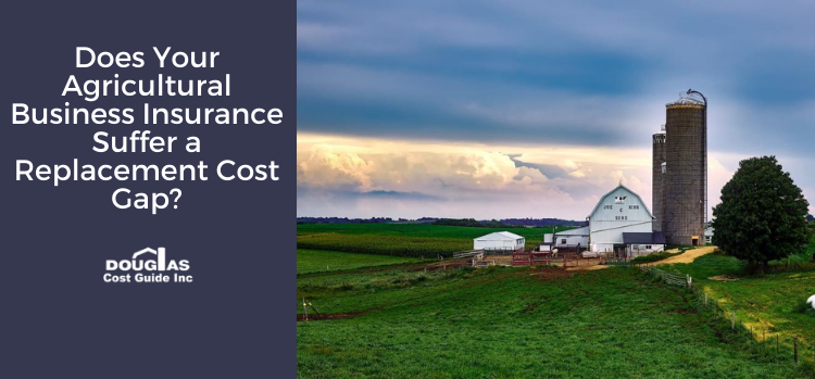 Agricultural structures including a barn and outbuildings that are fully insured using the Douglas Cost Guide replacement cost calculator